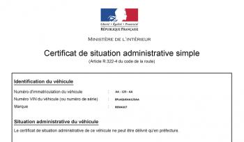 certificat administratif